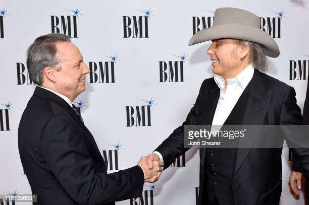 BMI Vice President Creative Jody Williams and Dwight Yoakam presents Dwight Yoakam with President's Award at 67th Annual Country Awards Dinner at BMI...