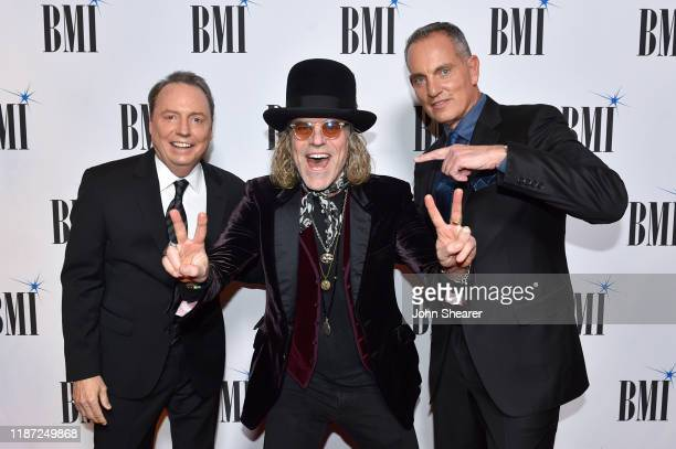 BMI Vice President Creative Jody Williams Big Kenny of Big Rich and BMI President/CEO Mike O'Neill attend as BMI presents Dwight Yoakam with...