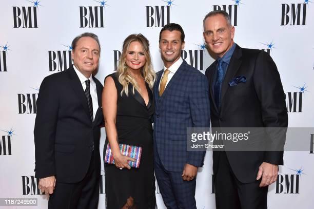 BMI Vice President Creative Jody Williams Miranda Lambert Brendan Mcloughlin and BMI President/CEO Mike O'Neill attend as BMI presents Dwight Yoakam...