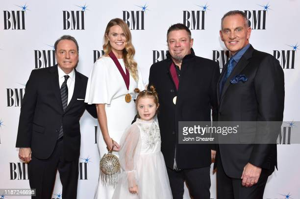 BMI Vice President Creative Jody Williams Nicolle Galyon Charlie Jo Clawson Rodney Clawson and BMI President/CEO Mike O'Neill attend as BMI presents...