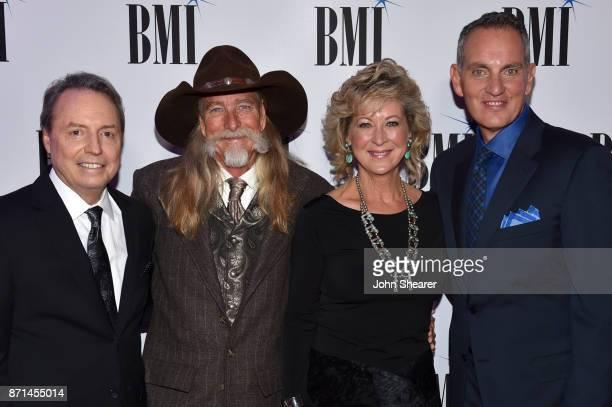 Vice President Creative Nashville Jody Williams musical artist Dean Dillon Kenni Wehrman and BMI President CEO Mike O'Neill attend the 65th Annual...