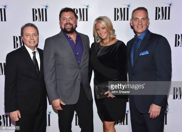 Vice President Creative Nashville Jody Williams radio personality Storme Warren Allison Warren and BMI President CEO Mike O'Neill attend the 65th...
