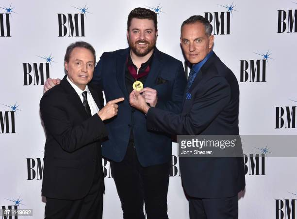 Vice President Creative Nashville Jody Williams singersongwriter Chris Young and BMI President CEO Mike O'Neill attend the 65th Annual BMI Country...