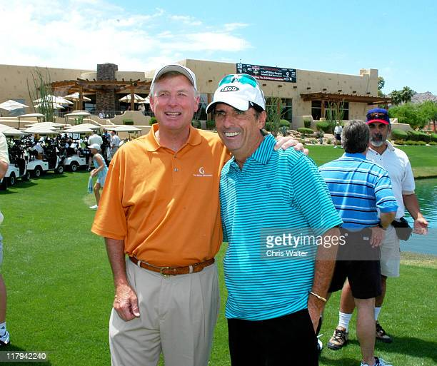 Vice President Dan Quayle and Alice Cooper during 9th Annual Alice Cooper Celebrity AM Golf Tournament to Benefit The Solid Rock Foundation Day 2 at...