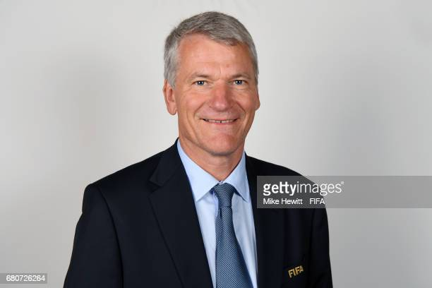 Vice President David Gill poses for a portrait at the Diplomat Radisson Blu, ahead of the FIFA Congress, on May 9, 2017 in Manama, Bahrain.
