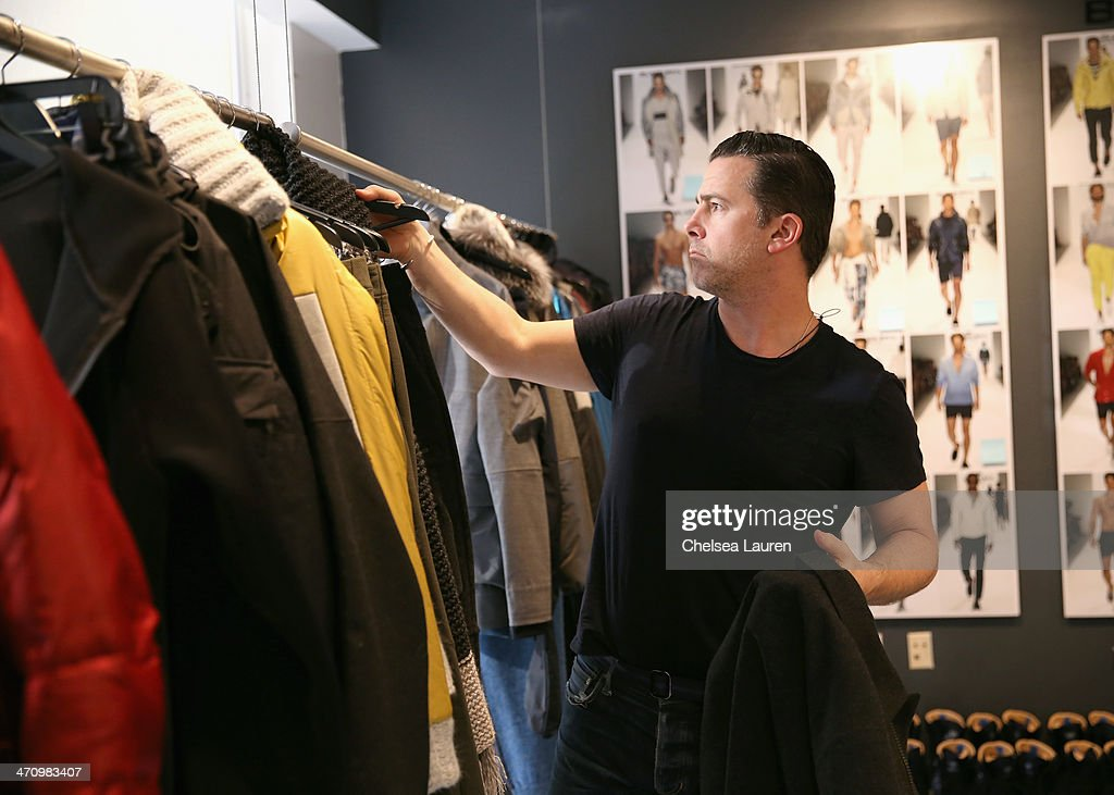 Vice President Design & Creative of Nautica Chris Cox attends a fitting prior to a show for Black Sail by Nautica at Natuica Studio on January 31, 2014 in New York City.