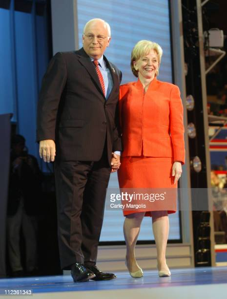 Vice President Dick Cheney and wife Lynne Cheney during 2004 Republican National Convention - Day 3 - Inside at Madison Square Garden in New York...