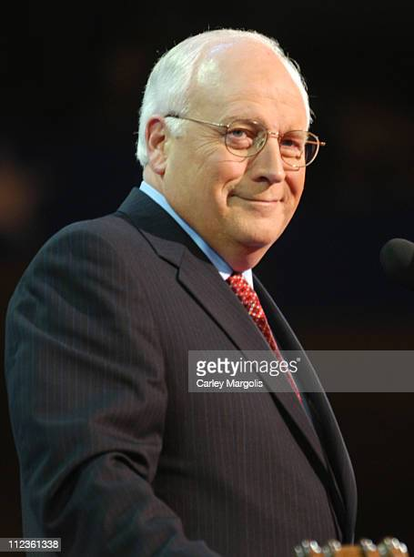 Vice President Dick Cheney during 2004 Republican National Convention Day 3 Inside at Madison Square Garden in New York City New York United States