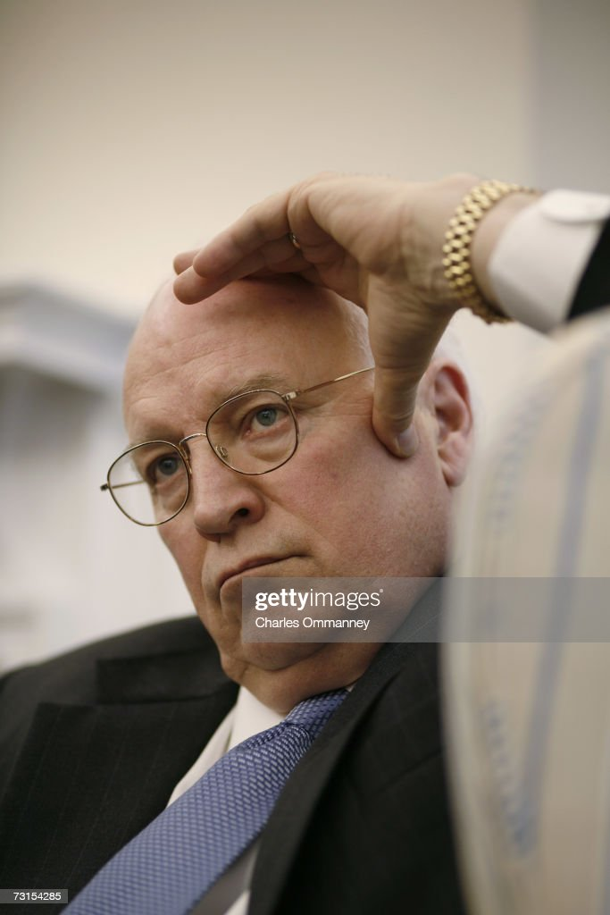 Vice President Dick Cheney in his West Wing office at the White House, January 25, 2007 in Washington, DC.