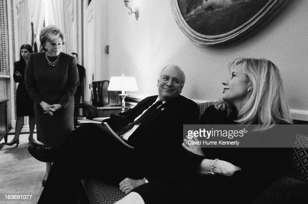 Vice President Dick Cheney photographed from 1975 to 2006 in Washington DC Dick Cheney with his wife Lynne to his right and daughter Liz to his left
