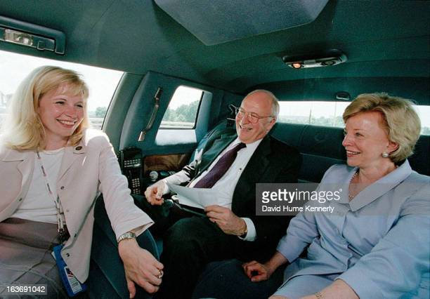Vice President Dick Cheney photographed from 1975 to 2006 in Washington DC Pictured lr Liz Cheney with her father Dick and mother Lynne