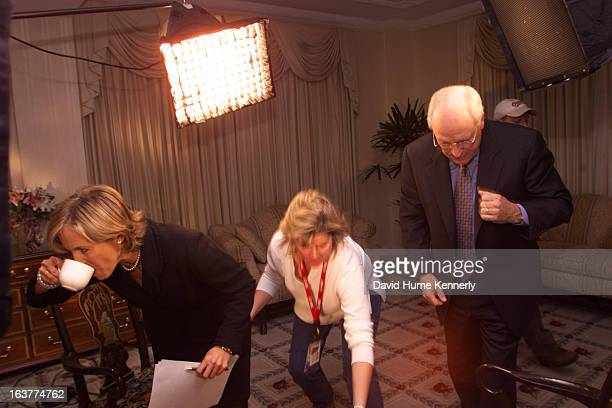 Vice President Dick Cheney photographed from 1975 to 2006 in Washington DC Pictured NBC Today show anchor Katie Couric grabs a cup of coffee after...