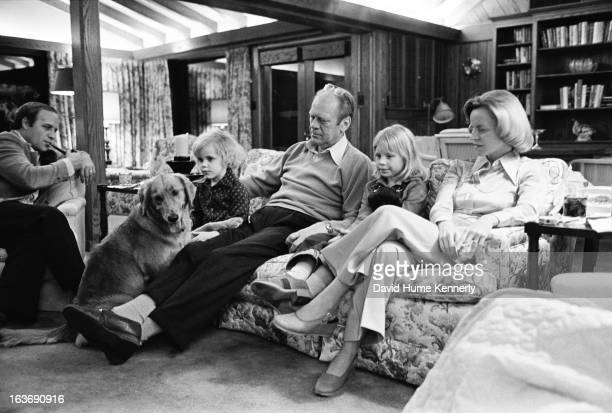 Vice President Dick Cheney photographed from 1975 to 2006 in Washington DC Pictured on the couch is President and Betty Ford with two Cheney...