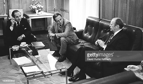 Vice President Dick Cheney photographed from 1975 to 2006 in Washington DC Seated on the couch is Dick Cheney and President Gerald Ford