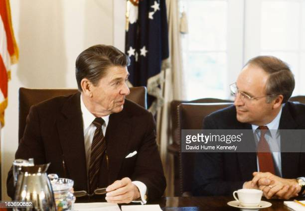 Vice President Dick Cheney photographed from 1975 to 2006 in Washington DC Pictured here with President Ronald Reagan