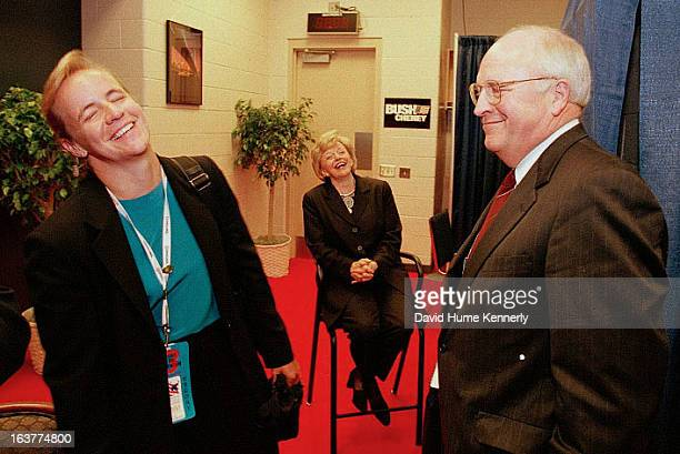 Vice President Dick Cheney photographed from 1975 to 2006 in Washington DC Pictured Mary Lynne and Dick Cheney in the green room before Cheney's...