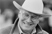 Vice president dick cheney smiles while wearing his cowboy hat august picture id51249585?s=170x170