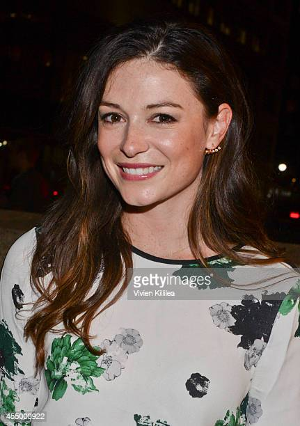 Vice President DMM of Contemporary 5F at Bergdorf April Hennig arrives at the rag bone fashion show during MercedesBenz Fashion Week Spring 2015 at...