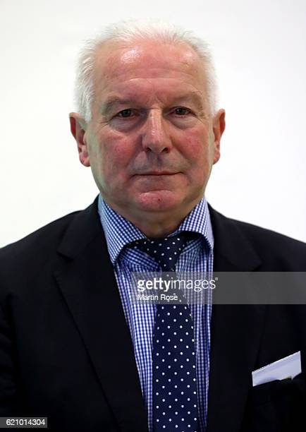 Vice President Erwin Bugar poses for a picture prior to day 2 of the 42nd DFB Bundestag at Messe Erfurt on November 4 2016 in Erfurt Germany