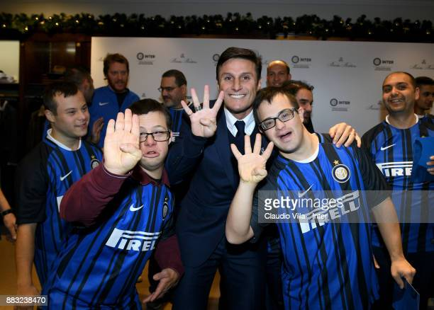 Vice President FC Internazionale Javier Zanetti attends during the FC Internazionale Team visit Brooks Brother Store on November 30 2017 in Milan...