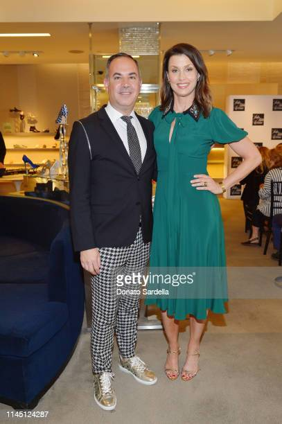Vice President General Manager Saks Fifth Avenue Beverly Hills Robert ArnoldKraft and Bridget Moynahan attend Saks Beverly Hills Celebrates Our Shoes...