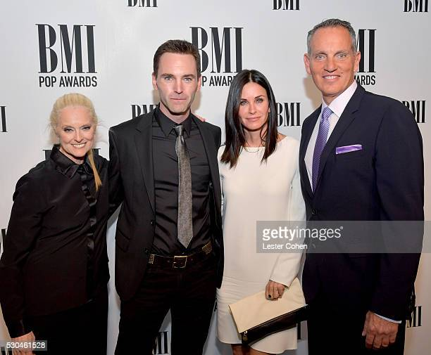 BMI Vice President General Manager Writer/Publisher Relations Barbara Cane musician Johnny McDaid of Snow Patrol actress Courteney Cox and BMI...