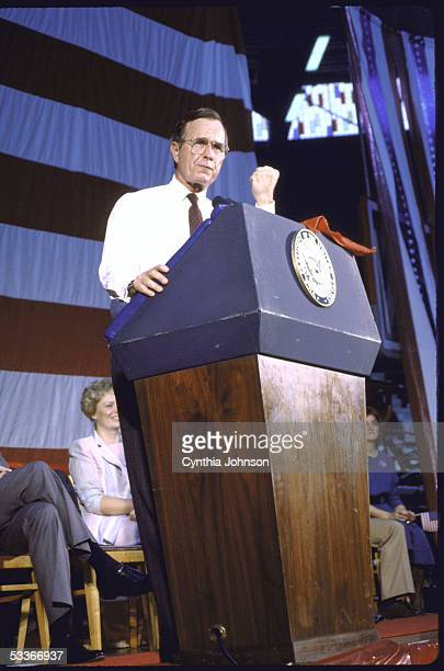 Vice President George Bush at a rally at Western Kentucky University