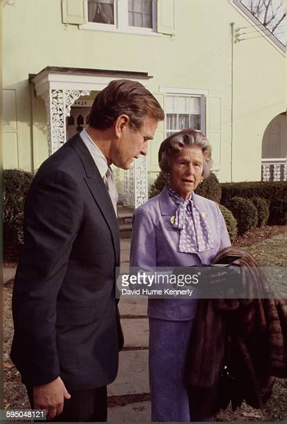 Vice President George HW Bush talks to his mother Dorothy Walker Bush in Washington DC circa 1983