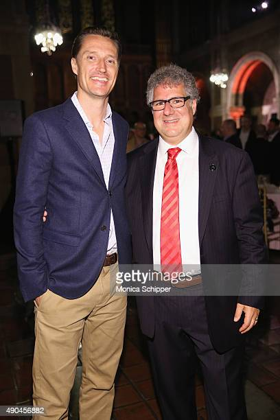 Vice President Global Advertising Sales at Amazon Seth Dallaire and Advertising Week Executive Director Matt Scheckner attend the Opening Gala during...