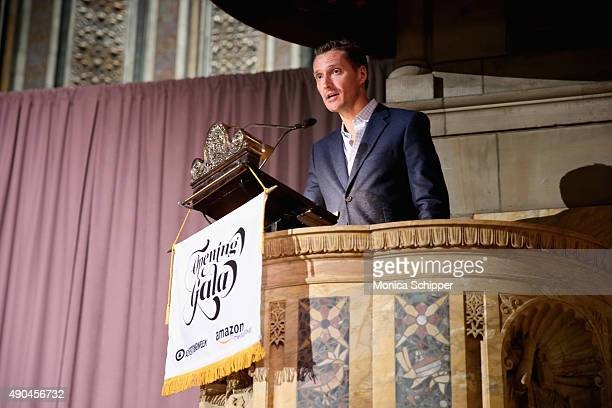 Vice President Global Advertising Sales at Amazon Seth Dallaire speaks at the Opening Gala during Advertising Week 2015 AWXII at St Bartholomew's...