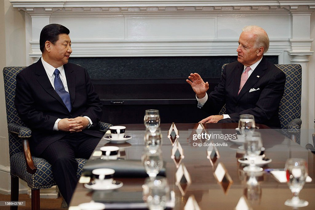Vice President Biden Holds Bilateral Meeting With Chinese Vice President Xi Jinping : News Photo