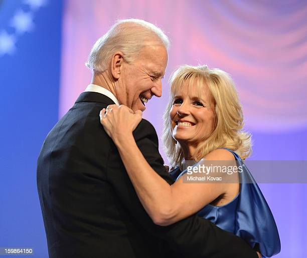 Vice President Joe Biden and Dr. Jill Biden dance together during The Inaugural Ball at the Walter E. Washington Convention Center on January 21,...