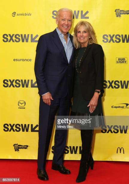 Vice President Joe Biden and Dr Jill Biden pose for a photo backstage at The Urgency Of Now Launching The Biden Cancer Initiative' during 2017 SXSW...