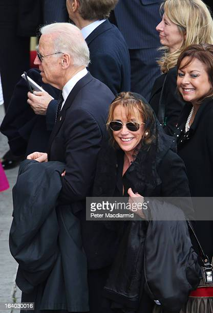 S Vice President Joe Biden and his sister Valerie Biden Owens leave the Inauguration Mass for Pope Francis in St Peter's Square on March 19 2013 in...