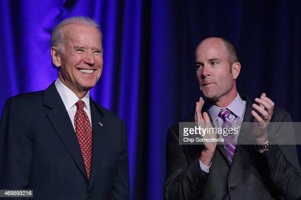 S Vice President Joe Biden and Sierra Club Executive Director Michael Brune attend the Good Jobs Green Jobs National Conference at the Washington...