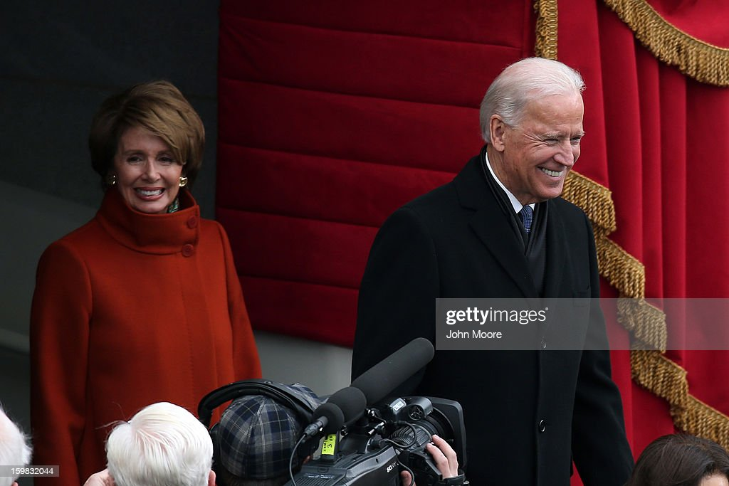 Barack Obama Sworn In As U.S. President For A Second Term : News Photo