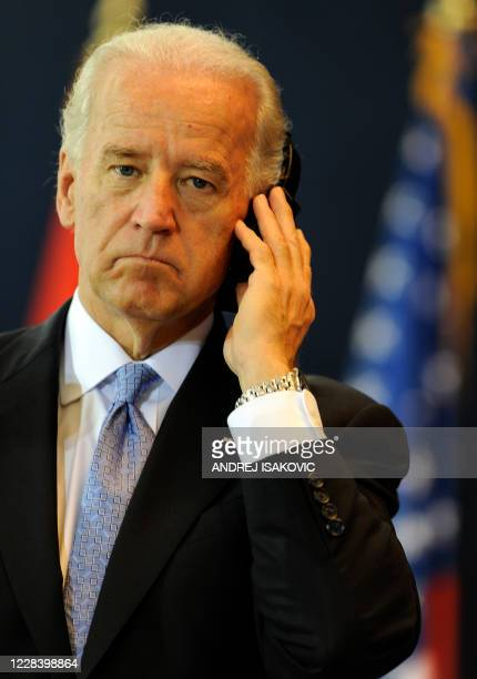Vice President Joe Biden attends a press conference with Serb President Boris Tadic after their meeting in Belgrade on May 20, 2009. Biden, the most...