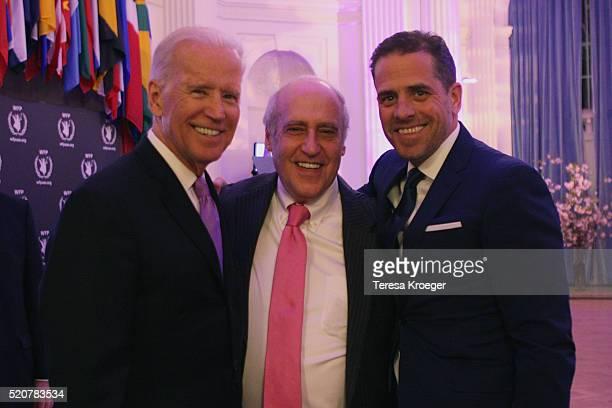 US Vice President Joe Biden Hon Dan Glickman and Hunter Biden attend the World Food Program USA's Annual McGovernDole Leadership Award Ceremony at...