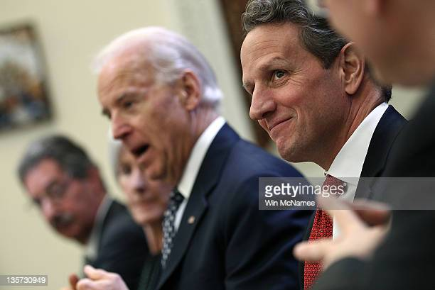 S Vice President Joe Biden hosts a Cabinet meeting with Deputy Attorney General James Cole Health and Human Services Secretary Kathleen Sebelius and...
