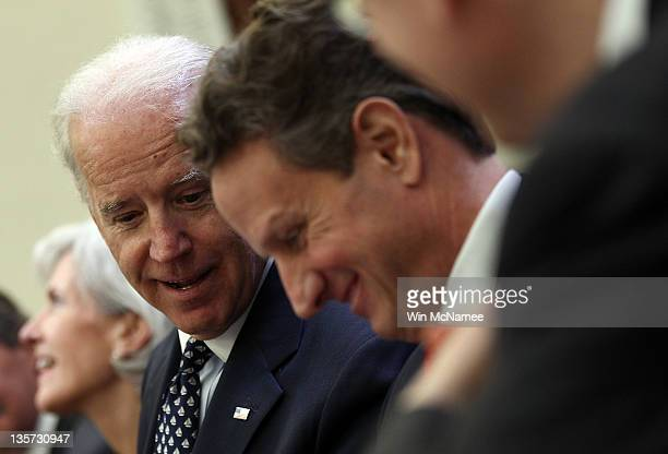 S Vice President Joe Biden hosts a Cabinet meeting with Health and Human Services Secretary Kathleen Sebelius and Treasury Secretary Tim Geithner to...
