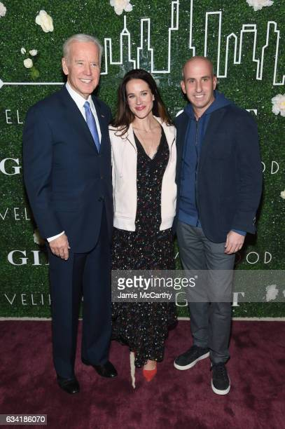 Vice President Joe Biden Livelihood founder Ashley Biden and Gilt Saks OFF 5TH President Jonathan Greller attend the GILT and Ashley Biden...