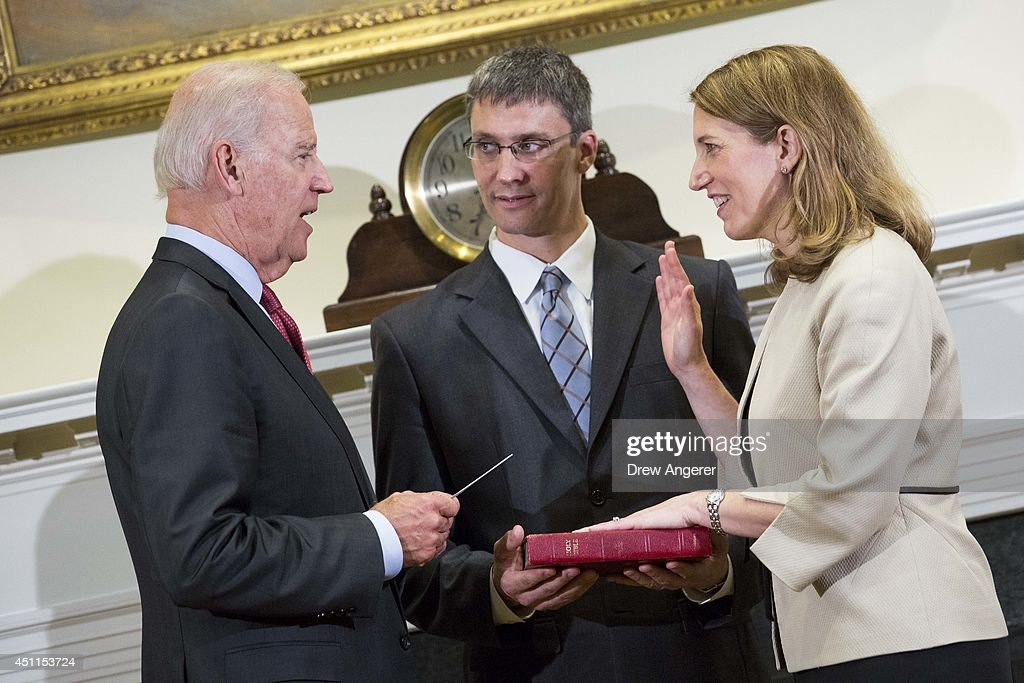 Sylvia Burwell Ceremonially Sworn In As Secretary Of Health And Human Services By VP Biden : News Photo