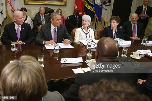 S Vice President Joe Biden President Barack Obama Health and Human Services Secretary Kathleen Sebelius White House Senior Advisor Valerie Jarrett...