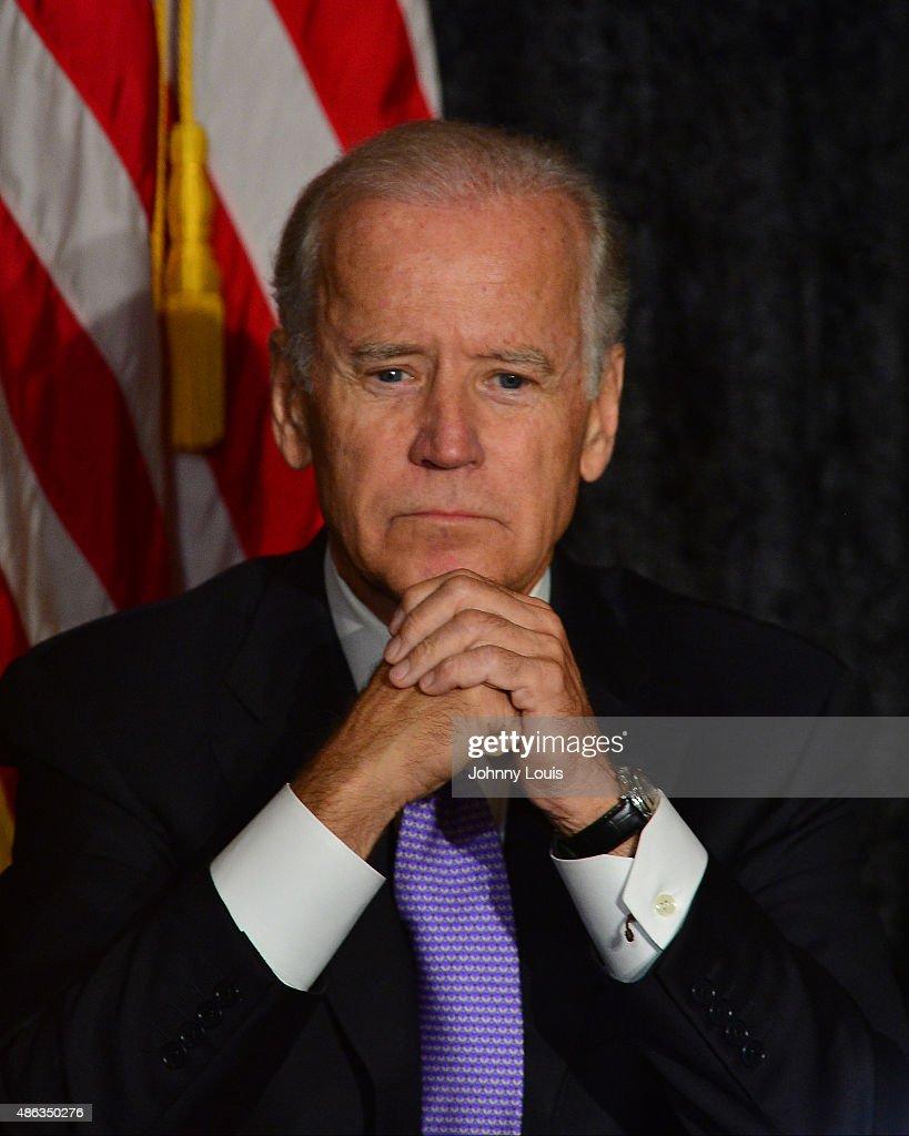 Vice President Joe Biden Speaks In South Florida : News Photo