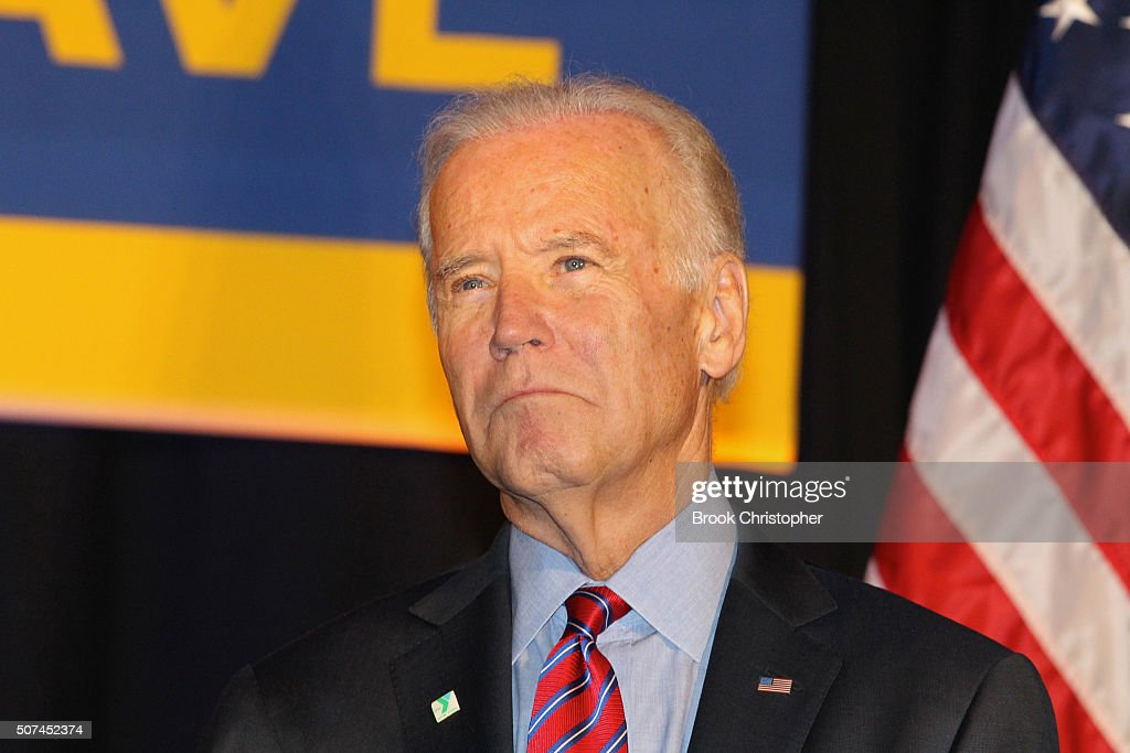 U.S. Vice President Joe Biden speaks at a rally for paid family leave as he and NY Governor Andrew Cuomo deliver remarks on economy on January 29, 2016 in New York City.