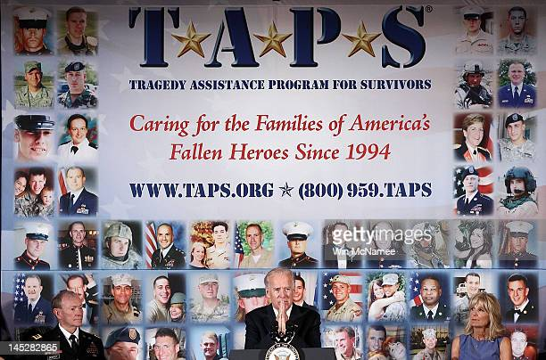 S Vice President Joe Biden speaks at the 18th annual Tragedy Assistance Program for Survivors Seminar as Joint Chiefs of Staff Chairman Gen Martin...
