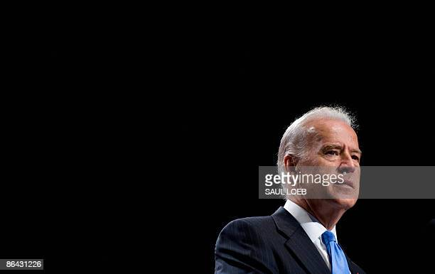 US Vice President Joe Biden speaks at the American Israel Public Affairs Committee�s annual policy conference at the Walter E Washington Convention...