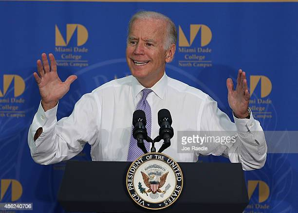 vice president biden speaks on education at miami dade college