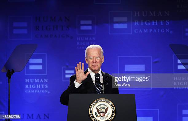 S Vice President Joseph Biden addresses the Spring Equality Convention of Human Rights Campaign March 6 2015 in Washington DC Vice President Biden...