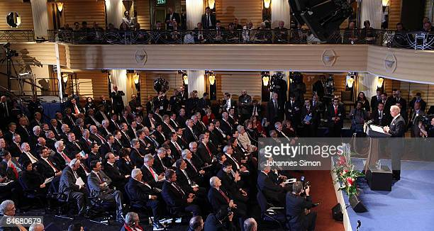 Vice President Joseph Biden delivers a speech during day 2 of the 45th Munich Security Conference at Hotel Bayerischer Hof on February 7 2009 in...